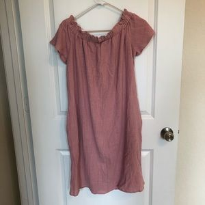 NWT Pink Blush Off the Shoulder Maternity Dress
